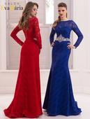 Prekrásne večerné šaty s výrazným opaskom, 34