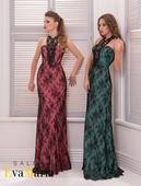 Pútavé spoločenské šaty s výraznou čipkou, 36