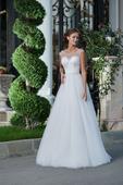 Luxusné svadobné šaty s tylovou sukňou, 36