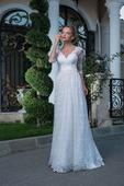 Luxusné čipkované svadobné šaty , 40