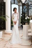elegantné priliehavé svadobné šaty , 34