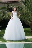 princeznovské svadobné šaty so zaujímavým chrbátom, 36