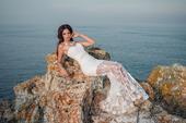 extravagantné svadobné šaty s kvetinovým vzorom, 36
