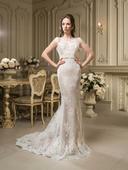 Kúzelné priliehavé svadobné šaty s vlečkou, 36