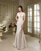 Očarujúce celo čipkované svadobné šaty , 36
