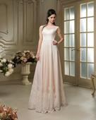 Famózne svadobné šaty s čipkovaným okrajom , 38