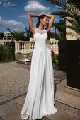 Jednoduché svadobné šaty s vyšívaným chrbátom , 36