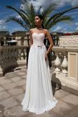 korzetové svadobné šaty s padavou sukňou , 40
