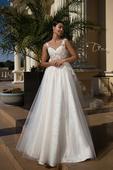 Princeznovské svadobné šaty so zdobenou sukňou , 34
