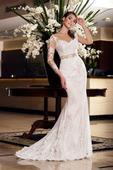 Zaujímavé priliehavé svadobné šaty , 38