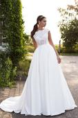 Famózne svadobné šaty so saténovou sukňou , 34
