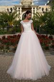 Luxusné svadobné šaty s čipkovaným živôtikom  , 36