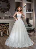 Prekrásne svadobné šaty s lemovaným okrajom , 32