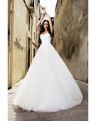 Prenádherné svadobné šaty s viacvrstvovou sukňou, 40