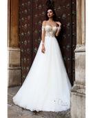 Okúzľujúce svadobné šaty s čipkou na rukávoch, 36