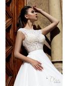 Nádherné svadobné šaty s oslnivým živôtikom, 38