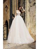 Prenádherné svadobné šaty s viacvrstvovou sukňou, 34