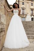 Romantické svadobné šaty s tylovou sukňou, 34