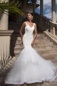 Čipkované svadobné šaty v štýle morskej panny  , 36