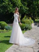 Prekrásne svadobné šaty strihu presýpacích hodín, 36