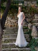 Priliehavé celočipkované svadobné šaty , 36