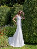 Luxusné celokrajkované svadobné šaty s vlečkou, 32