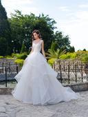 Svadobné šaty s volánovou sukňou, 40