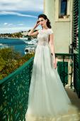 Elegantné svadobné šaty s dlhou vlečkou, 43