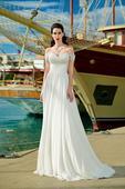 Romantické svadobné šaty s padavými ramienkami, 54