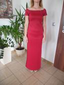 dlhé červené šaty, 40