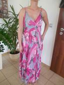 ružové dlhé šaty, 40