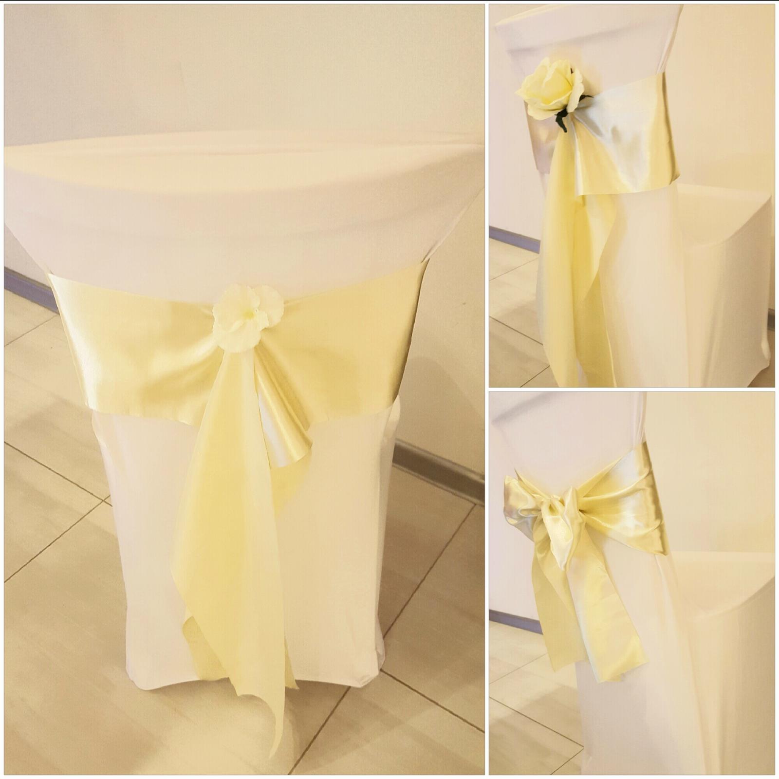 Výzdoba stoličiek - inšpirácie - Smotanová farba