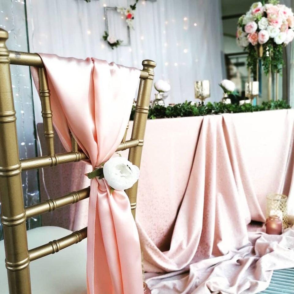 Gold rose svadobná výzdoba - Obrázok č. 1