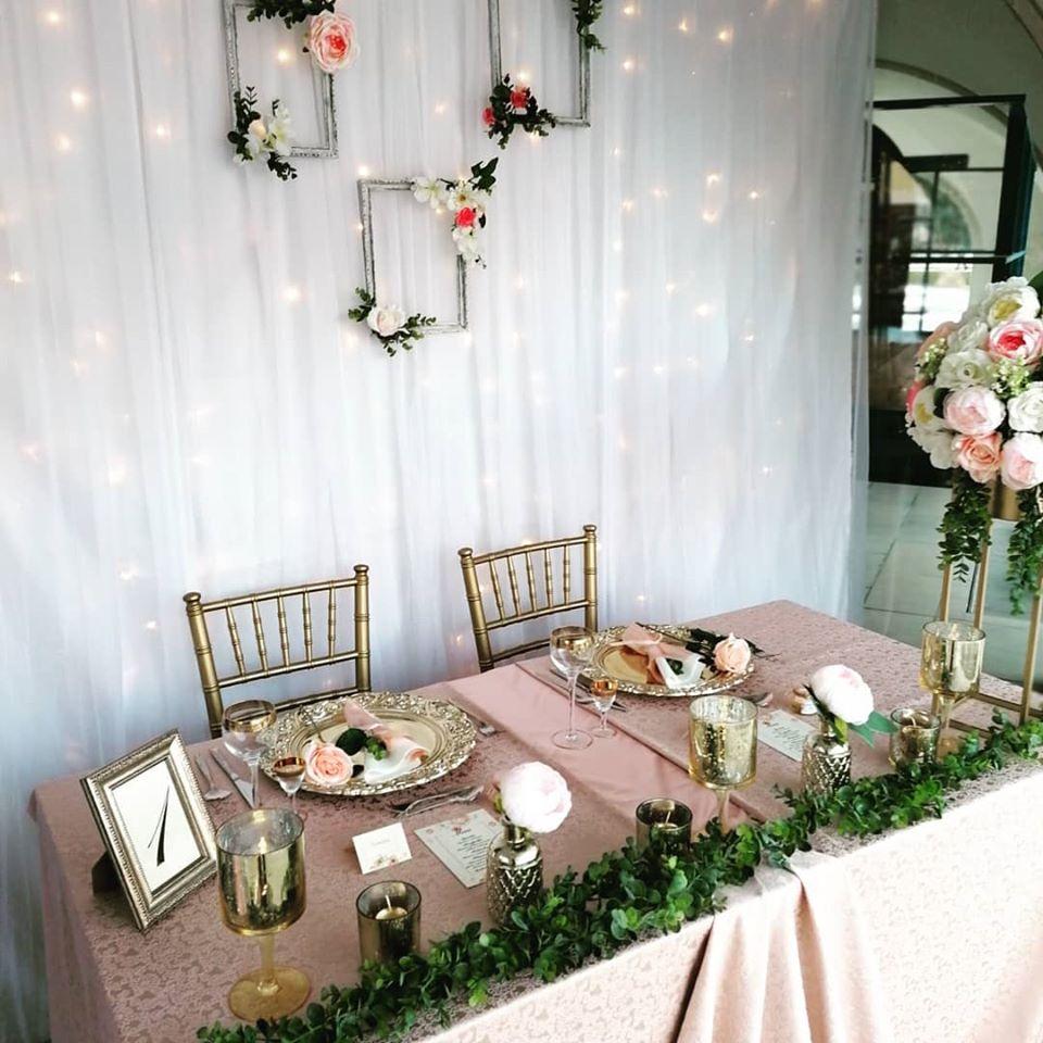 Gold rose svadobná výzdoba - Obrázok č. 2