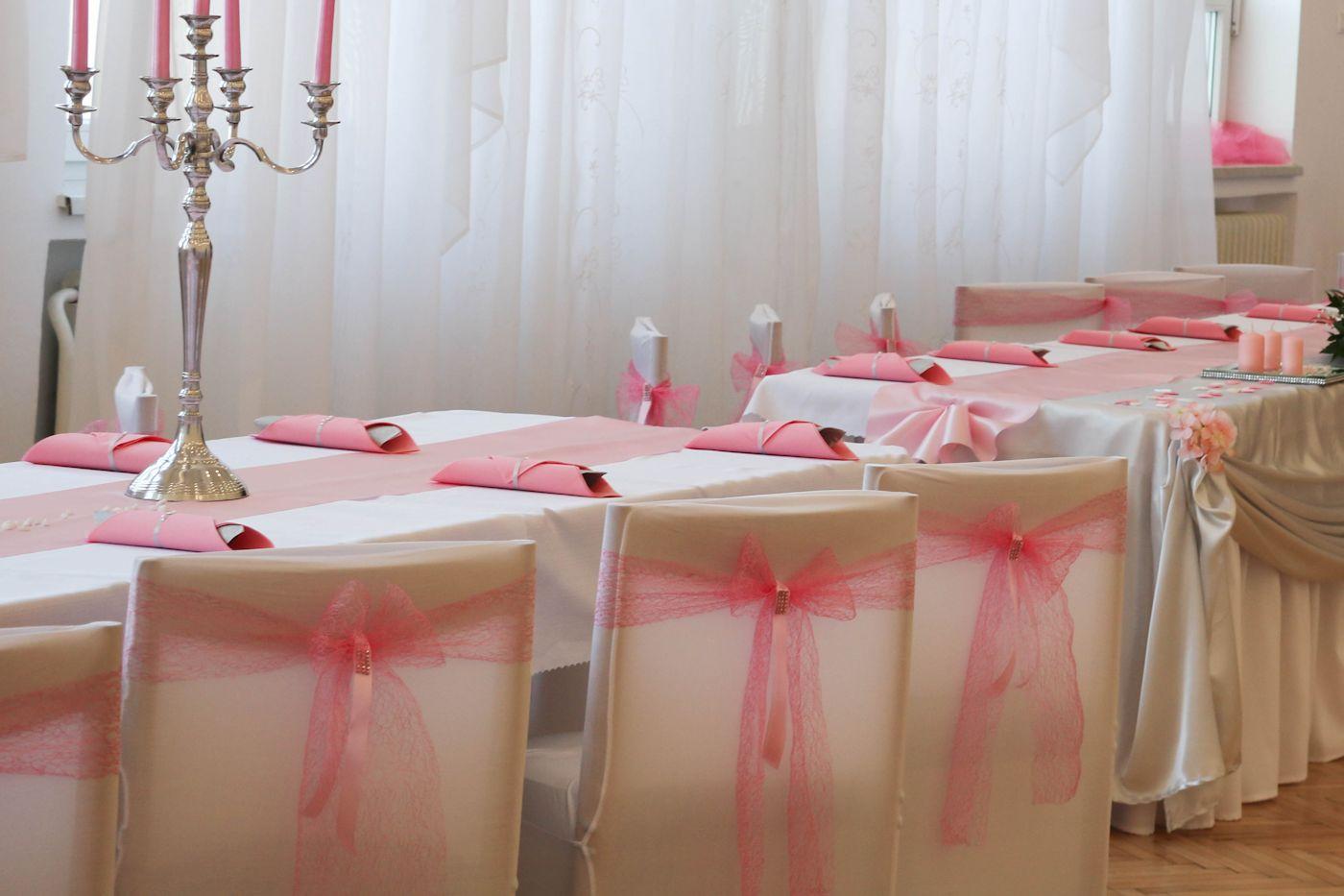 Mašľa na stoličku - ružová pavučinka - Obrázok č. 2