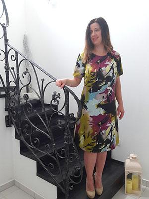 Spoločenské šaty farebné  - Obrázok č. 1