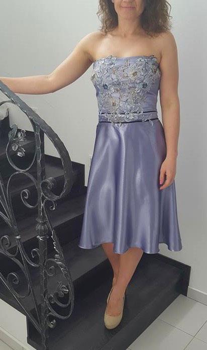 spoločenské šaty fialkové  - Obrázok č. 1