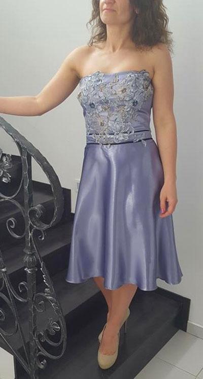 spoločenské šaty fialkové  - Obrázok č. 2
