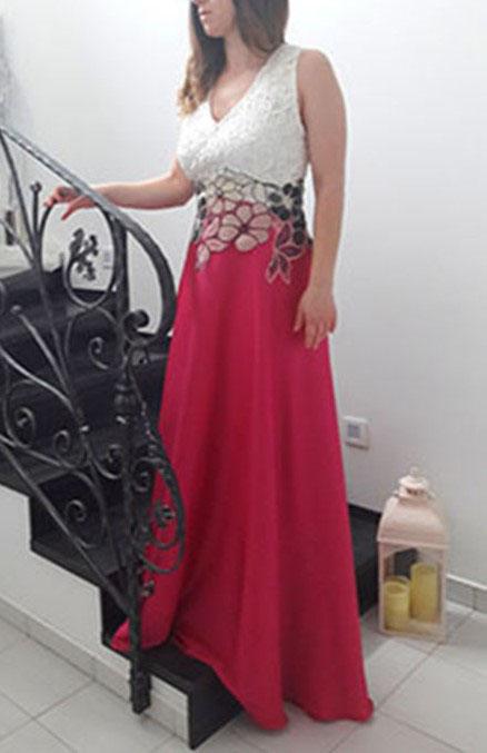 Luxusné spoločenské šaty cyklaménové - Obrázok č. 1