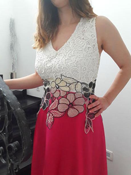 Luxusné spoločenské šaty cyklaménové - Obrázok č. 2