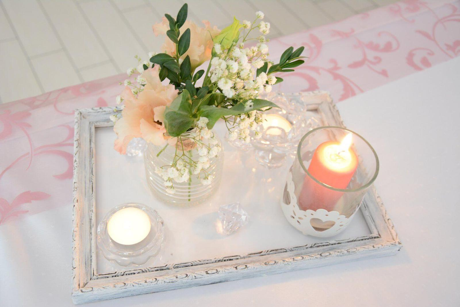 podnos pod sviečky, vázy - rám  - Obrázok č. 2
