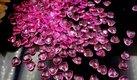 Růžové kamínky ve tvaru srdce 300 kusů,