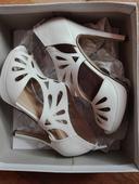 Svatební lodičky, sandály, krajkové, 37