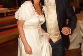 grécky štýl svadobné šaty, 38