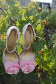 Boty růžové svatební, 41
