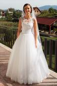Ručne zdobené svadobné šaty, 40