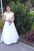 Jednoduché svadobné šaty 40-44 ( aj pre tehuľky ), 42