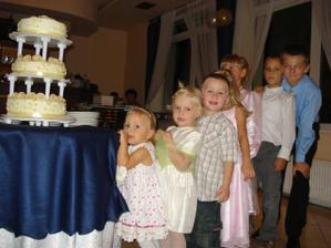 Detičky čakajú na tortu