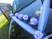 Dekorace na auto fialová,