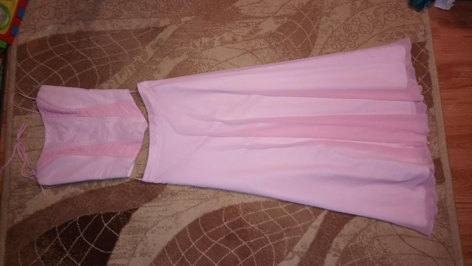 Ružové šifónové šaty - Obrázok č. 1